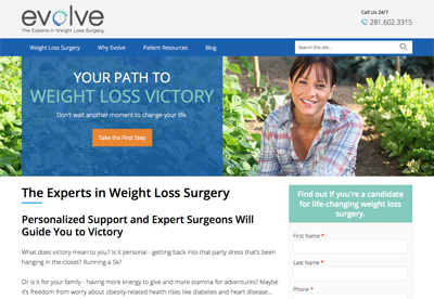 Evolve Weight Loss Experts Home Page