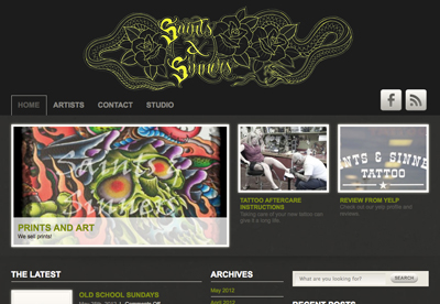 Saints and Sinners Tattoo Home Page